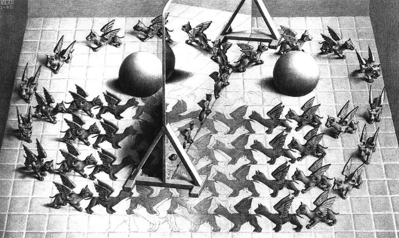Здесь тоже многовато рассудка и логики.  Неудивительно, что и сайт Крылова украшен гравюрами Эшера.