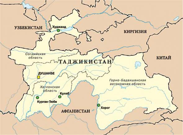 Где находится таджикистана