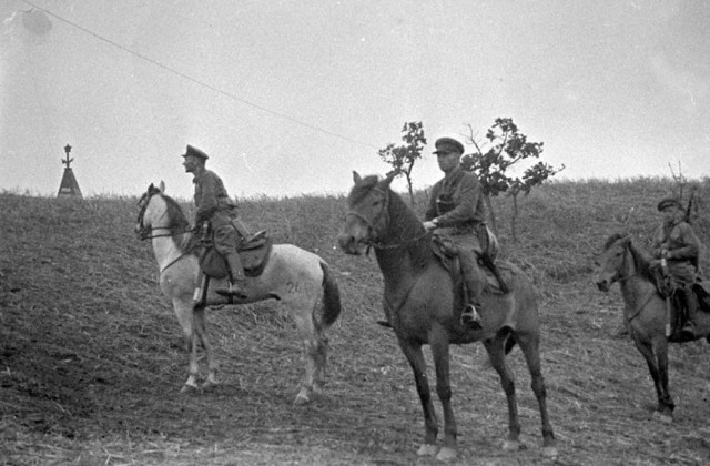 Кавалеристы в дозоре. Район озера Хасан. 1938 год
