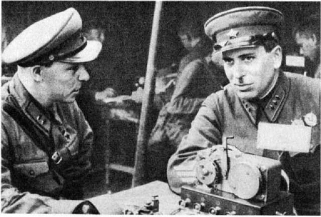 Ф.А. Семёновский и Г.М. Штерн во время событий у озера Хасан