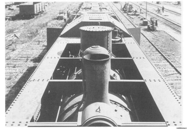 Бронепаровоз бронепоезда Rinji Соко Ressha. Вид сверху