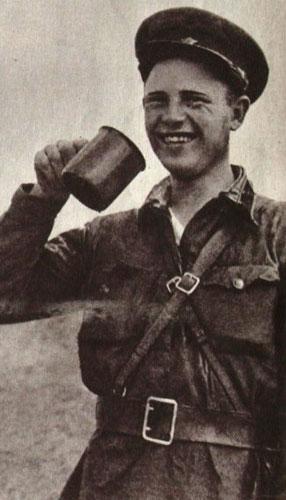 Красноармеец М. Блихов - участник боев в районе озера Хасан