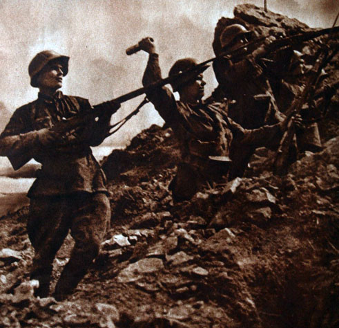 Красноармейцы-дальневосточники, участники штурма высоты Заозерной