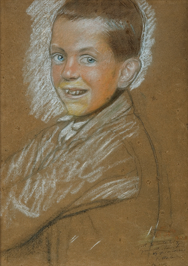 Study of smiling boy