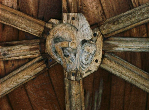 Wooden boss, the Cloisters, Lincoln Cathedral