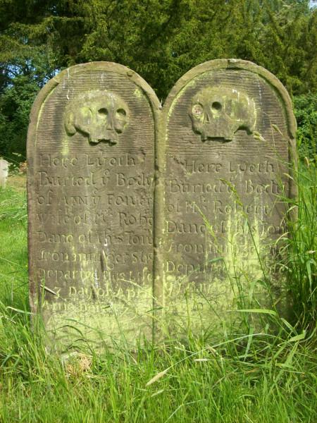 18th c. gravestone, Faversham
