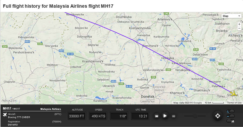 MH-17-route