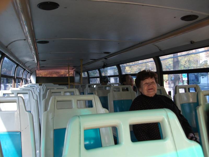 на втором этаже автобуса