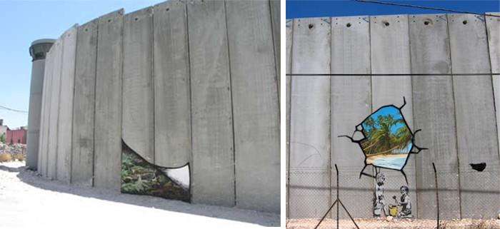 Бэнкси израильская стена 1
