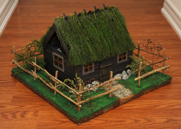 Поделка домик из палочек