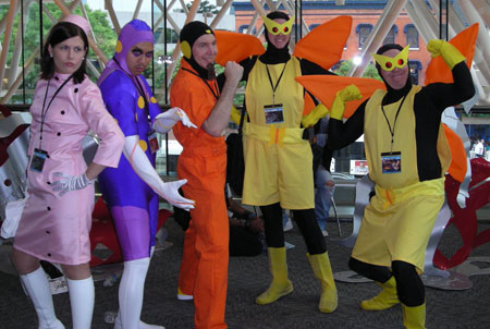 Me as the Monarch with friends at Otakon