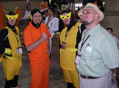 Me and Jason and two winged minions I did not know before the con