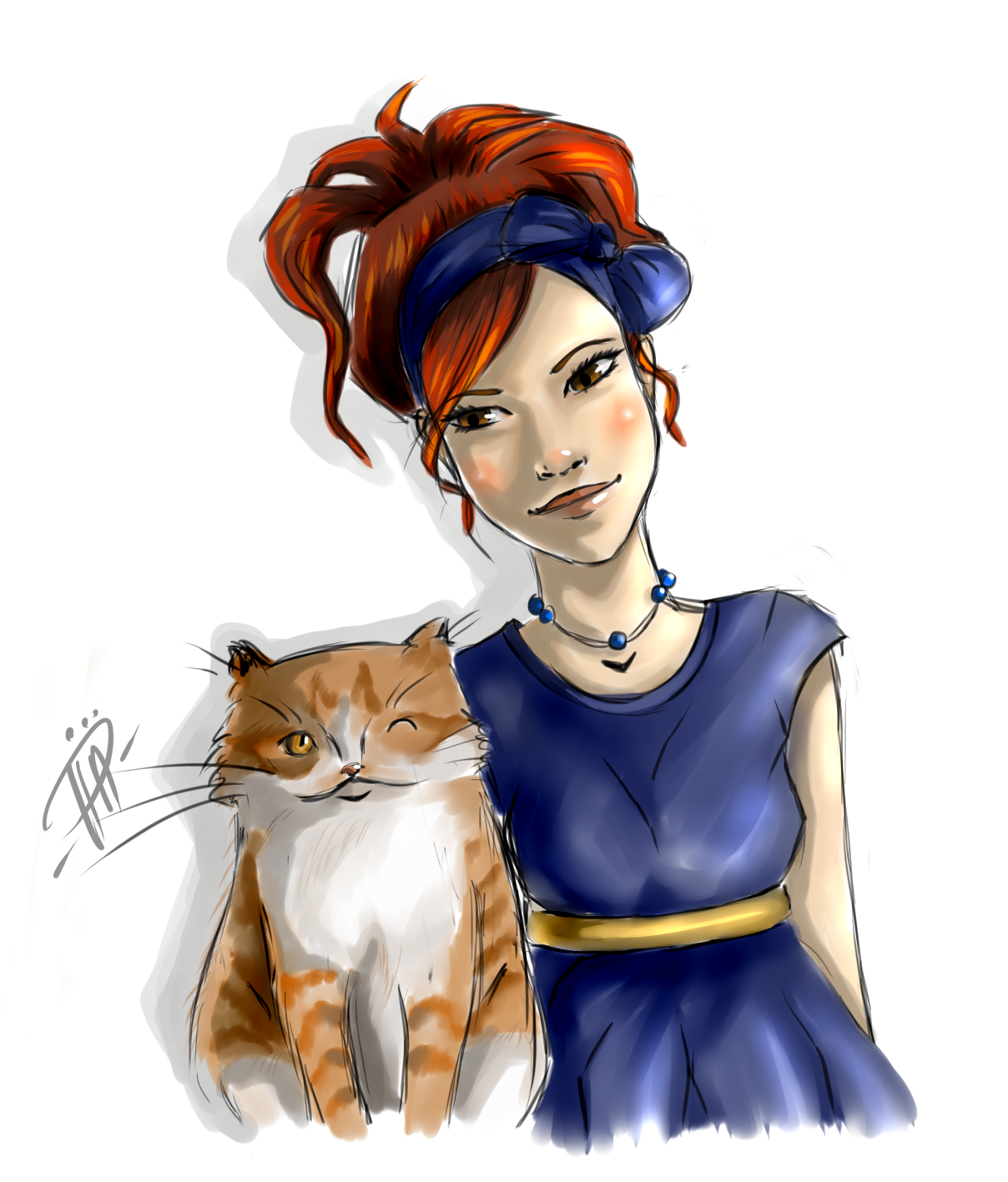 В обработке девочка с котом