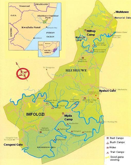 Hluhluwe-iMfolozi-Park-Map