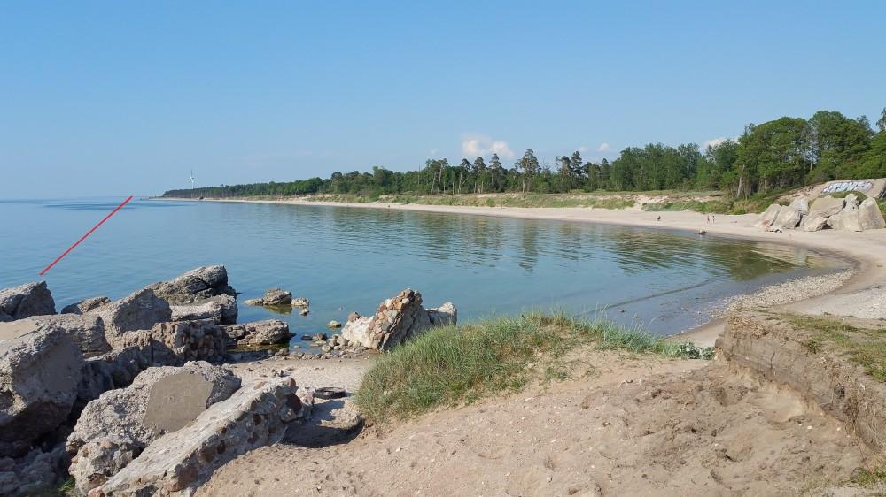 Залив на северной оконечности Батареи №3. 2019 год