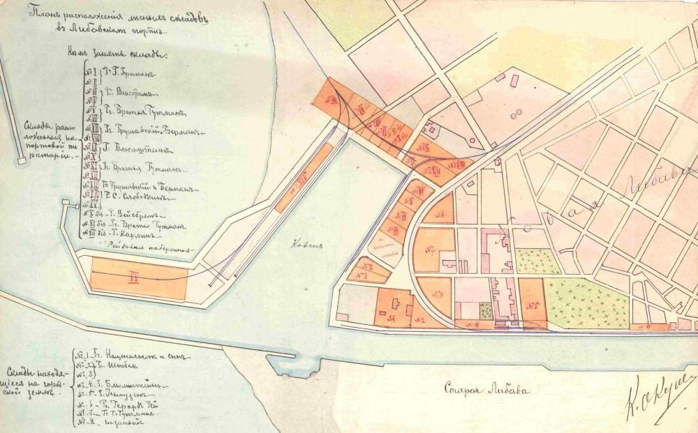 План портового района, Зимняя гавань. 1902 год