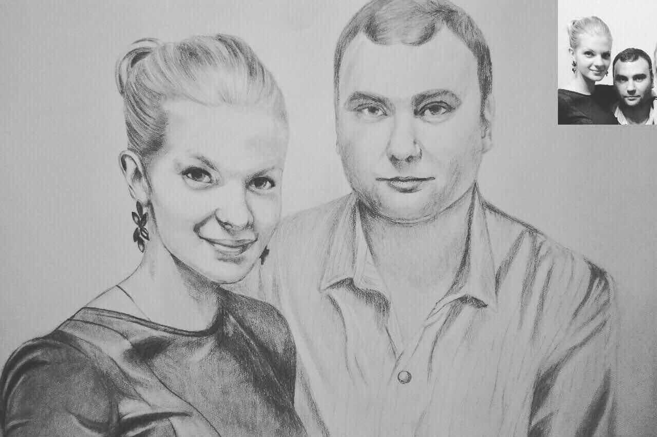джикия досады как нарисовать портрет пары по фото создадим