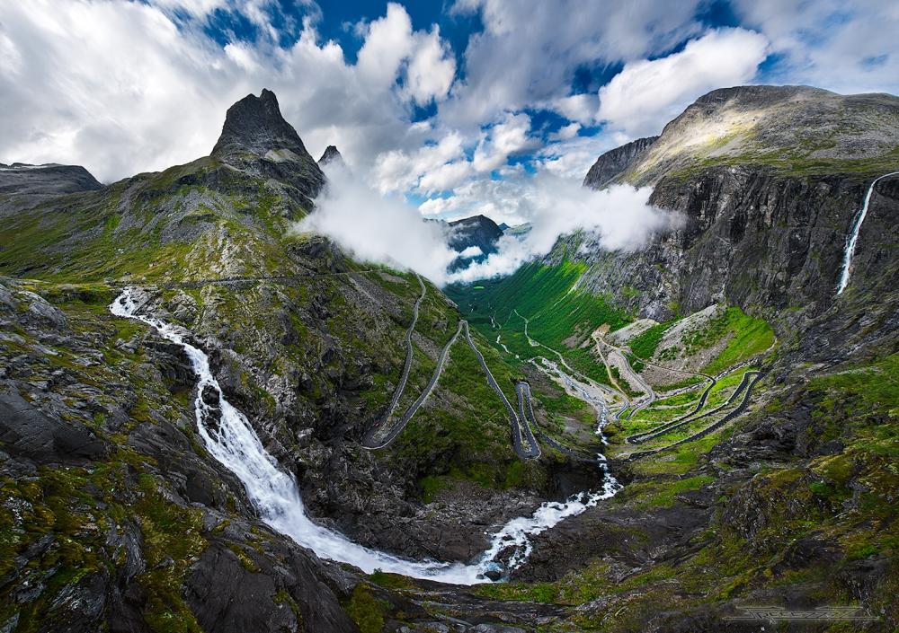 Туристическая Лестница Троллей (Trollstigen) в Норвегии