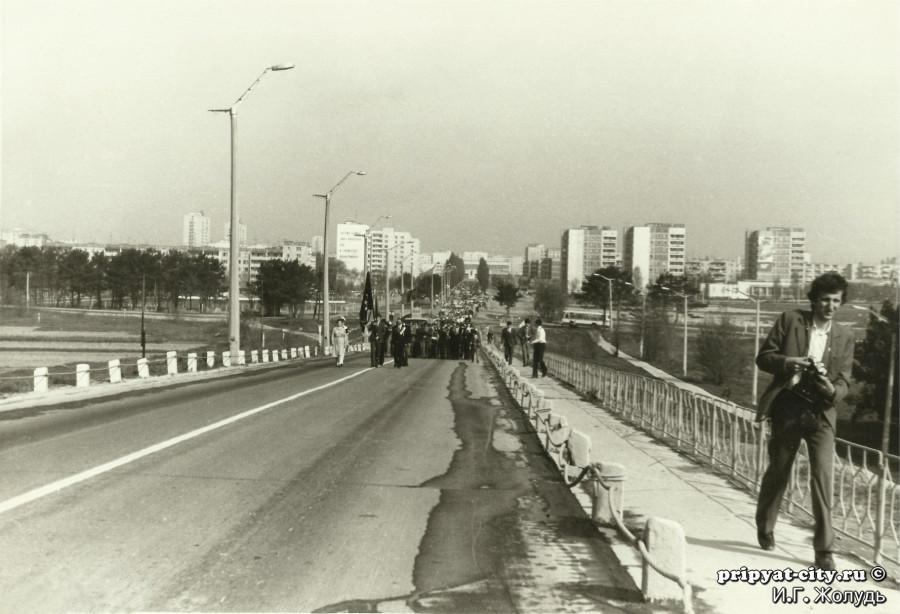Мост смерти в городе Припять
