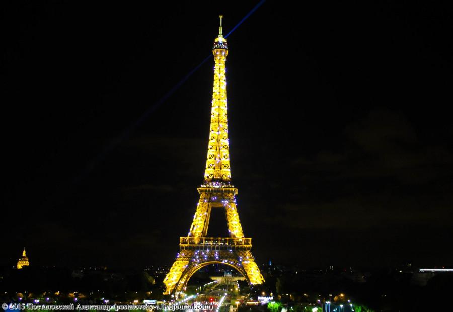 Эйфелева башня, ночь