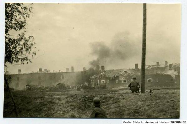Первые атаки немцев