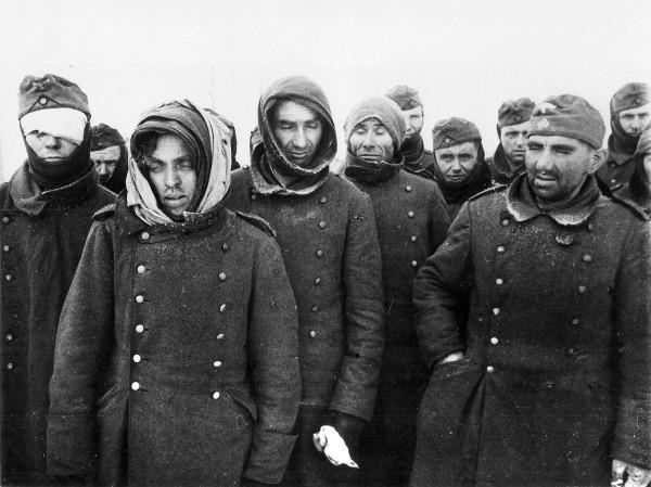 Немецкие военнопленные, захваченные Красной Армией в Сталинграде