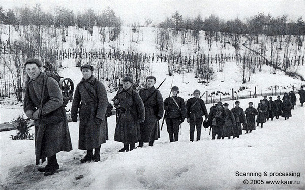 Советские войска на марше. Ноябрь 1939г.