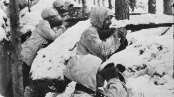 Финские солдаты в окопе во время советско-финской войны