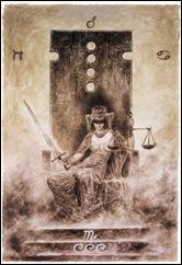 luis_royo_labyrinth_tarot_major arcana - justice