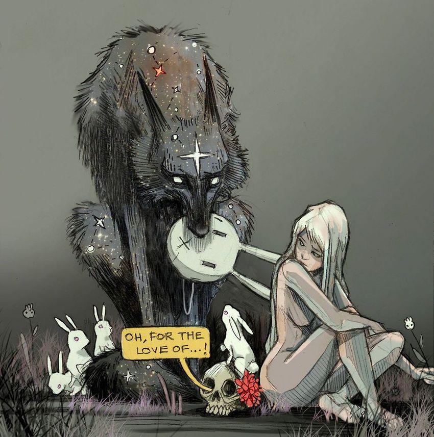 происхождения иллюстрации звездный волк фото красивое вечнозелёное