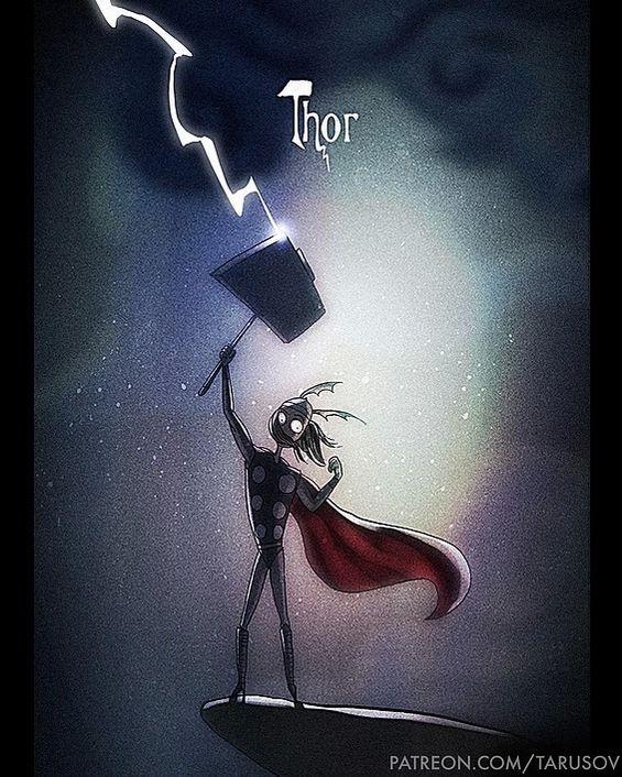 Если бы супергероев рисовал Тим Бёртон