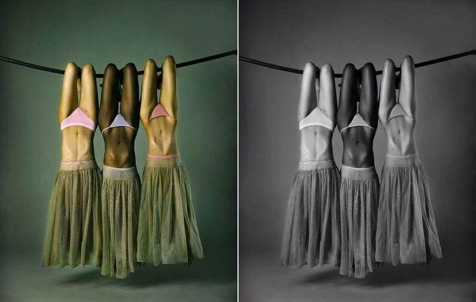 Три девицы вверх ногами от Juan Manuel Garcia