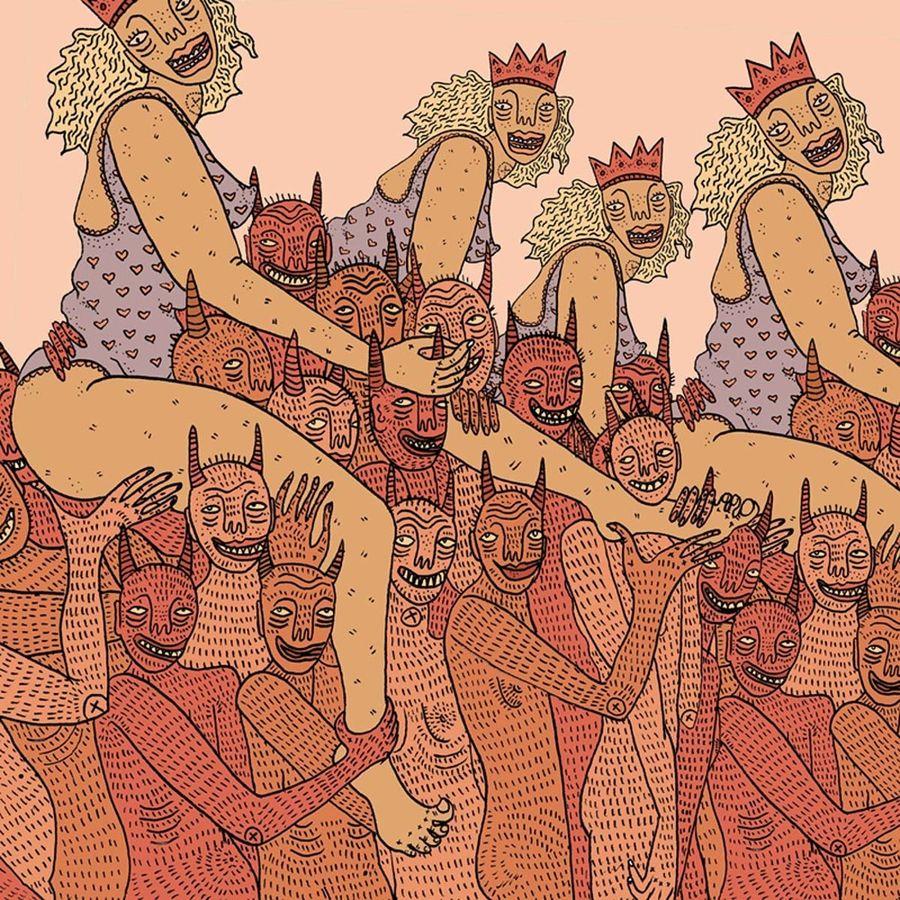 Женщина и её демоны в картинах Полли Нор