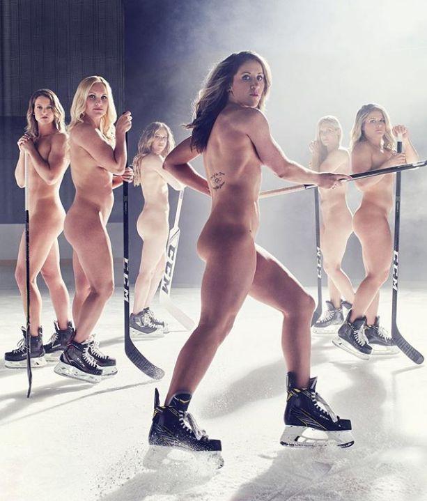 А хоккей-то гол! (как хоккеистки США голышом фотографировались)