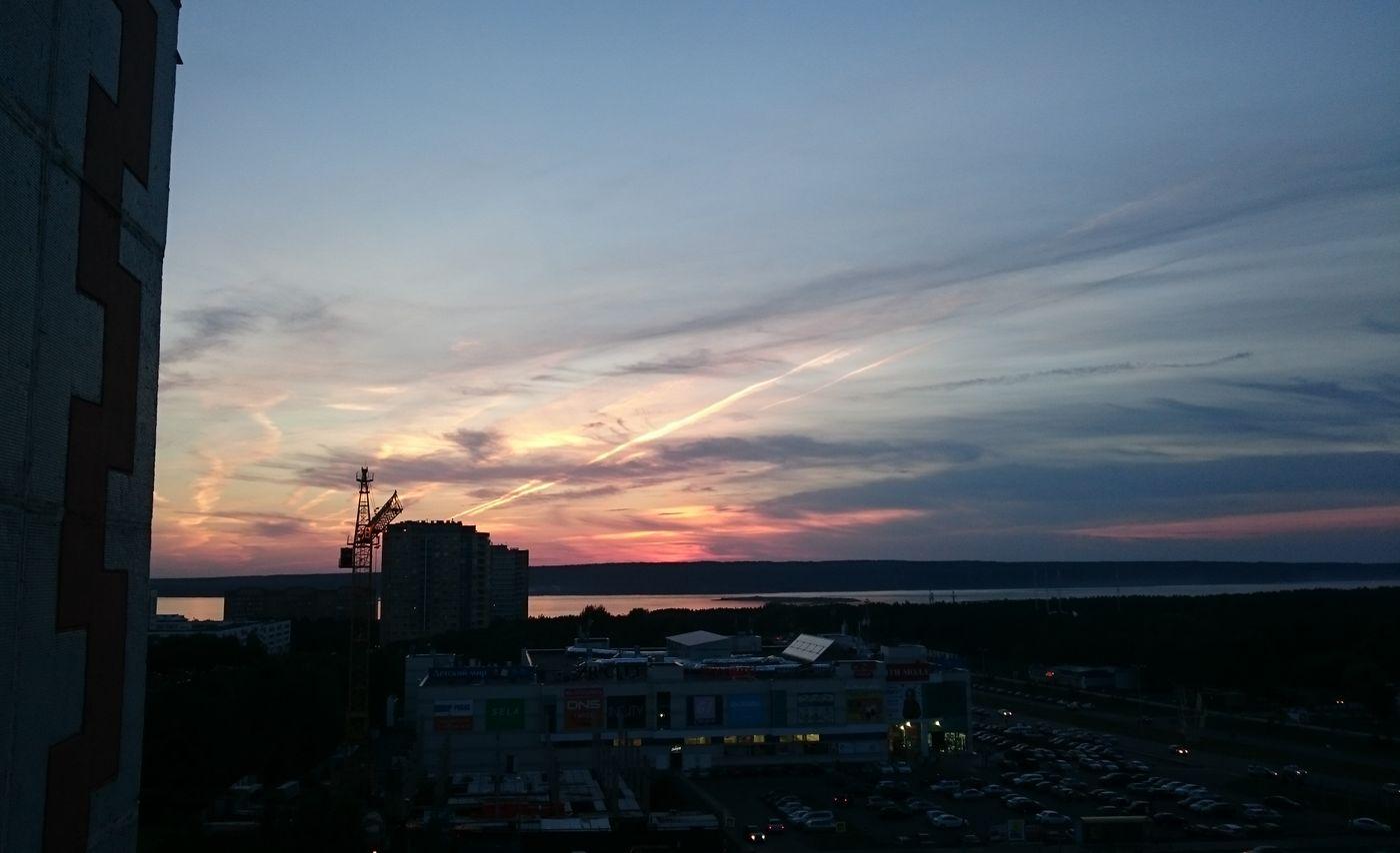 Хорош закат был вчера