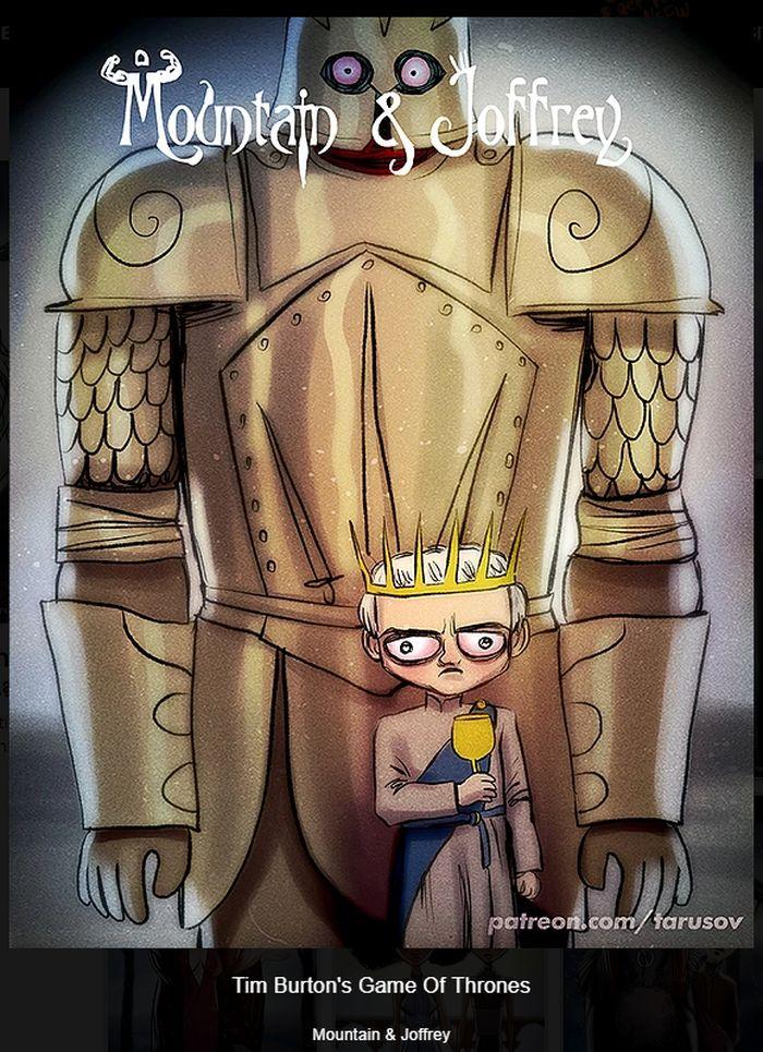 Игра престолов в стиле Тима Бёртона