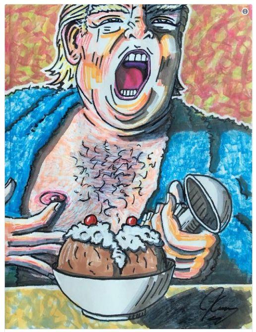 Джим Керри — политический карикатурист
