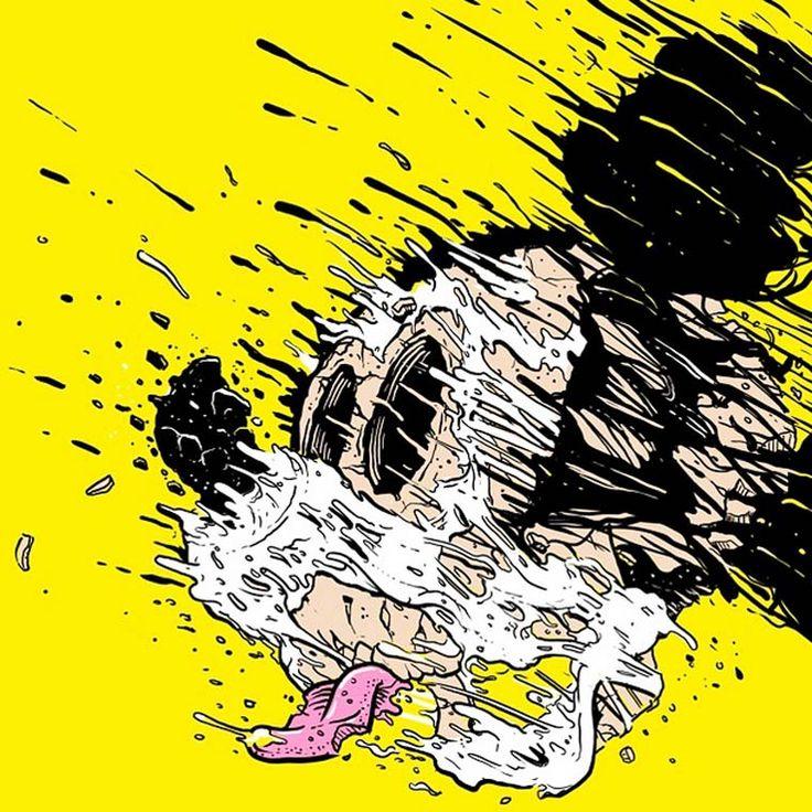 Поп-арт деконструкция Мэтта Гондека (разрушитель Симпсонов, Диснея, ЗВ, DC и прочих)