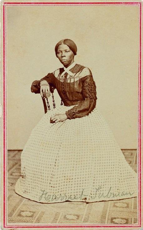 Студийный портрет аболиционистки Гарриет Табман в молодости во время Гражданской войны в США; 1868–1869 годы.