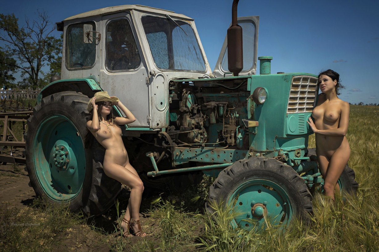 Nude girls and tractors