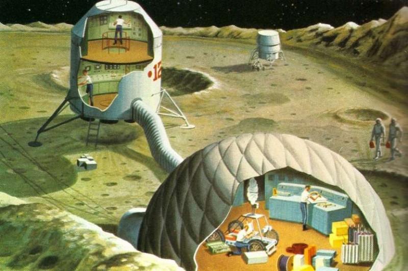 Так представляли себе колонизацию Луны в 1969 году. Иллюстрация американского издания Science Journal
