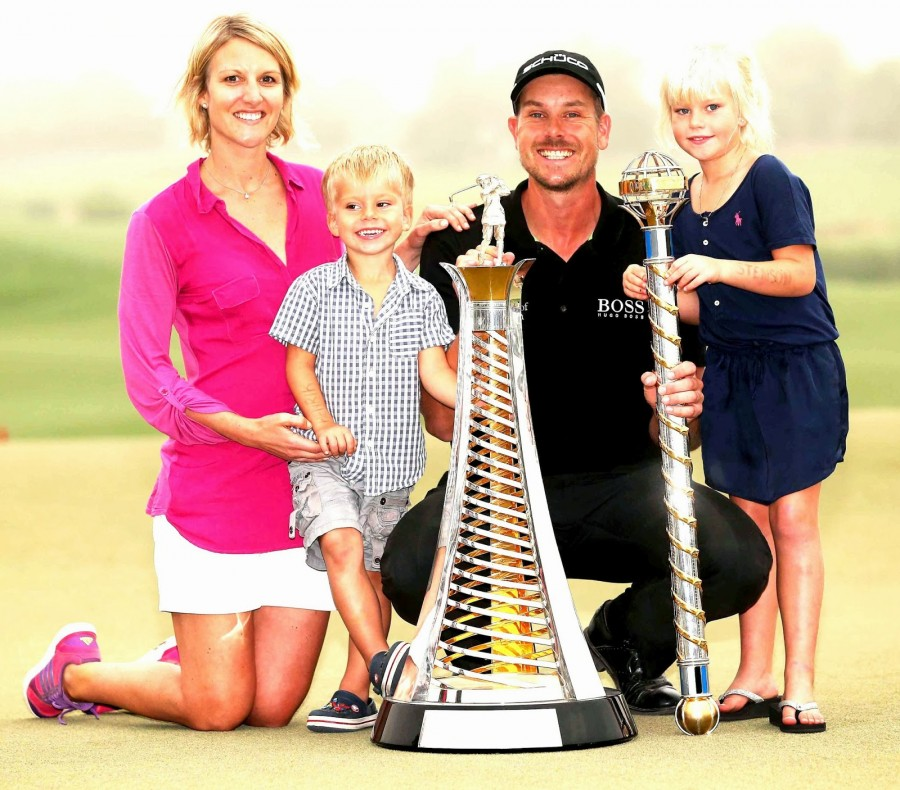 HENRIK STENSON, FAMILY AND TROPHY NOV 2013