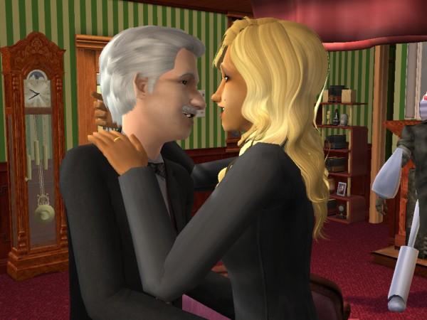 Mortimer & Dina hug