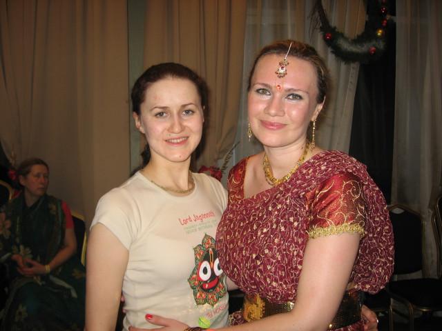 Эканта Бхакти деви даси и Оля Петрушина