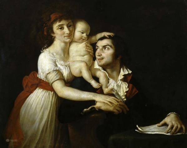 Давид - Камиль Демулен с семьей