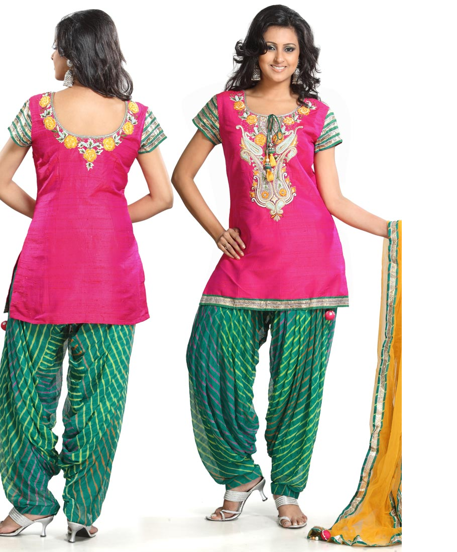 Phulkari suit for wedding