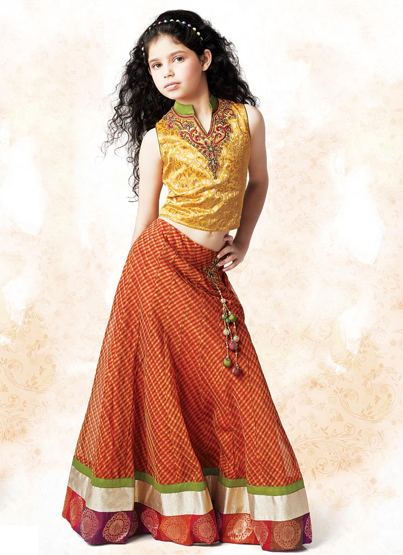 Kids Fashion Lehenga Choli Sherwanies House