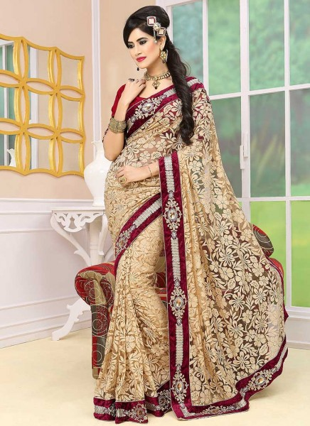 Embroidery Saree Styles For 2014 Ethnic Fashion