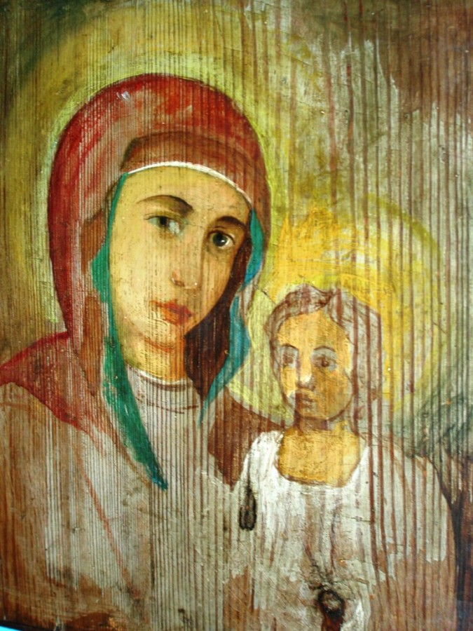 Обновлённая  икона Казанской Божьей Матери в часовне Бориса и  Глеба