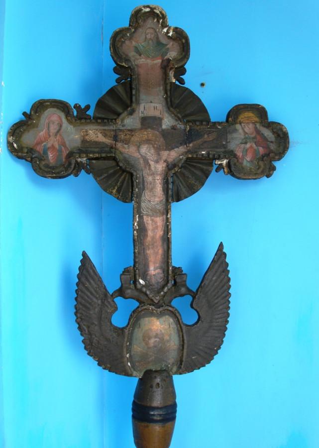 Деревянный расписной крест в Борисо-Глебской часовне